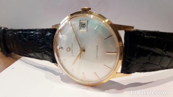 Relojes de pulsera: RELOJ CERTINA MODELO CERTIDATE EN ORO DE LEY AÑOS 60 CARGA MANUAL Y TOTALMENTE NUEVO - Foto 2 - 178183147