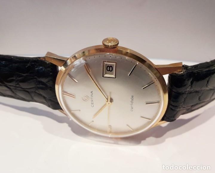 Relojes de pulsera: RELOJ CERTINA MODELO CERTIDATE EN ORO DE LEY AÑOS 60 CARGA MANUAL Y TOTALMENTE NUEVO - Foto 3 - 178183147
