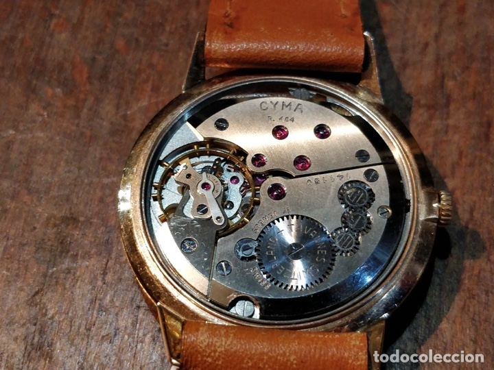 Relojes de pulsera: RELOJ CUERDA MANUAL CABALLERO CYMA - CYMAFLEX - ORO. - Foto 4 - 117116907