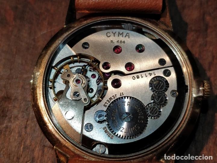 Relojes de pulsera: RELOJ CUERDA MANUAL CABALLERO CYMA - CYMAFLEX - ORO. - Foto 5 - 117116907