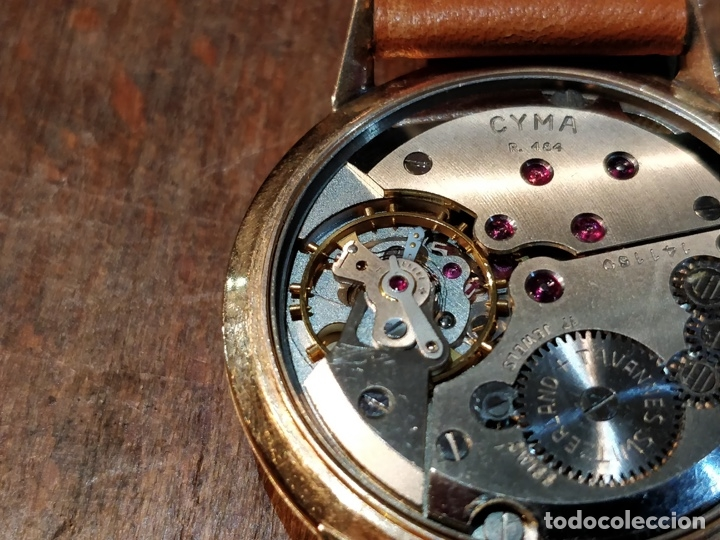Relojes de pulsera: RELOJ CUERDA MANUAL CABALLERO CYMA - CYMAFLEX - ORO. - Foto 7 - 117116907
