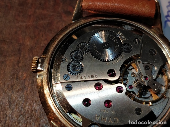 Relojes de pulsera: RELOJ CUERDA MANUAL CABALLERO CYMA - CYMAFLEX - ORO. - Foto 6 - 117116907