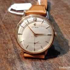 Relojes de pulsera: RELOJ CUERDA MANUAL CABALLERO CYMA - CYMAFLEX - ORO.. Lote 117116907