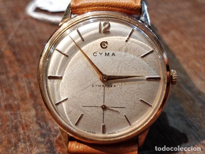 Relojes de pulsera: RELOJ CUERDA MANUAL CABALLERO CYMA - CYMAFLEX - ORO. - Foto 2 - 117116907