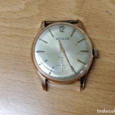 Relojes de pulsera: RELOJ ALTEZA DORADO DE CABALLERO CARGA MANUAL - 17 JEWELS - PLAQUÉ 10G. Lote 48164378