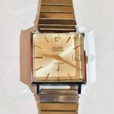Relojes de pulsera: VINTAGE HOMBRE, DUWARD DIPLOMATIC CALENDARIO CAL. AROGNO 336 . - 28X28 M/M. . Lote 178659056