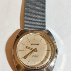 Relojes de pulsera: VINTAGE SANGINE,CAL. FE 233-60 , 17 RUBIS - 39 X 39 M/M.- C/C. FUNCIONA BIÉN. Lote 178661760