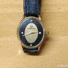 Relojes de pulsera: RELOJ CERTINA DE MUJER CUERDA DIARIA ESFERA OVALADA. Lote 65828046