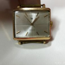 Relojes de pulsera: RELOJ DE PULSERA CARGA MANUAL MARCA LIP, MADE IN FRANCE, FUNCIONANDO, ORIGINAL CON CONTRASTES, . Lote 178976777