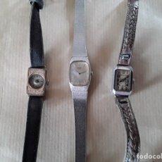 Relojes de pulsera: 3 RELOJES ANTIGUOS DOS DE CUERDA Y UNO DE PILA PARA REPARAR. Lote 179103186