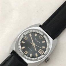 Relojes de pulsera: RELOJ YUGY CALENDARIO CARGA MANUAL SIN USAR 27 MM. Lote 179127775