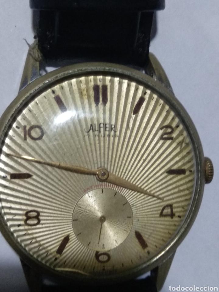 Relojes de pulsera: Reloj de cuerda alfer 17 rubia antimagnetic en funcionamiento - Foto 2 - 180023828