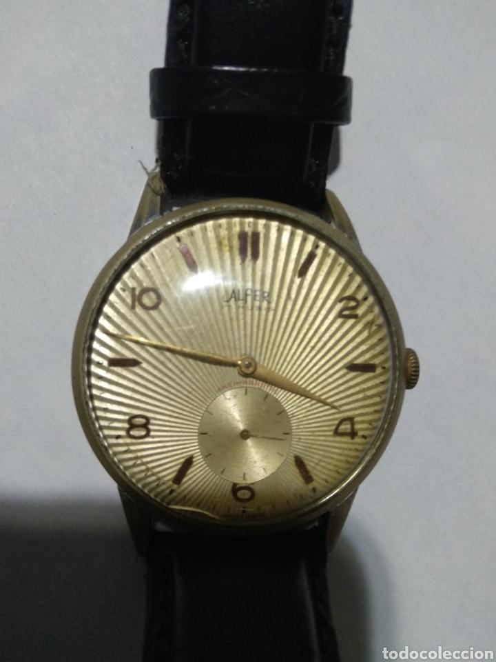 RELOJ DE CUERDA ALFER 17 RUBIA ANTIMAGNETIC EN FUNCIONAMIENTO (Relojes - Pulsera Carga Manual)