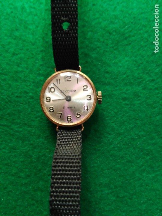VINTAGE RELOJ ORO MACIZO DE 9 KT. SEKONDA 17 JOYAS FUNCIONANDO USSR (Relojes - Pulsera Carga Manual)