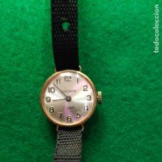 Relojes de pulsera: VINTAGE RELOJ ORO MACIZO DE 9 KT. SEKONDA 17 JOYAS FUNCIONANDO USSR. Lote 180099145