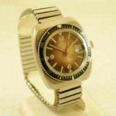 Relojes de pulsera: CRUZEIRAL MECANICO TIPO DIVER 37.6MM FUNCIONANDO. Lote 180114546