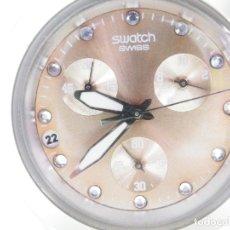 Relojes de pulsera: PRECIOSO SWATCH CON CRONOMETRO MUY BUEN ESTADO AÑO 2009 FUNCIONA LOTE WATCHES. Lote 180243727