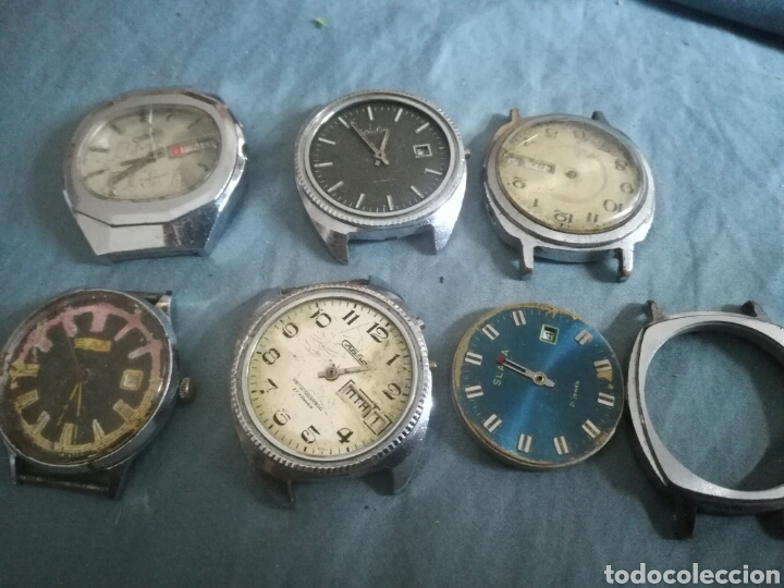 6 RELOJES MECANICOS RUSOS SLAVA PARA PIEZAS (Relojes - Pulsera Carga Manual)