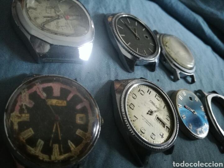 Relojes de pulsera: 6 relojes mecanicos rusos Slava para piezas - Foto 2 - 180252687