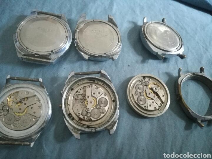 Relojes de pulsera: 6 relojes mecanicos rusos Slava para piezas - Foto 3 - 180252687