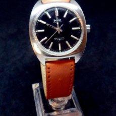 Relojes de pulsera: RELOJ VINTAGE - MARCA HMT -MODELO KOHINOOR - DIAL NEGRO- CARGA MANUAL. Lote 180258415