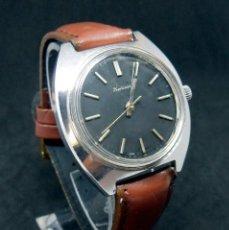 Relojes de pulsera: RELOJ VINTAGE - MARCA HMT -MODELO KOHINOOR - DIAL NEGRO- LE FALTA EL LOGO DE LA FIRMA. Lote 180275250