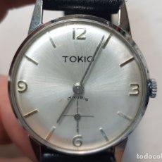 Relojes de pulsera: RELOJ CUERDA MANUAL TOKIO 17 RUBIS FUNCIONANDO RARO. Lote 180393330