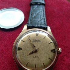 Relojes de pulsera: RELOJ DE CUERDA EXACTUS AMBASSADEUR PLAQUE ORO. Lote 180447360