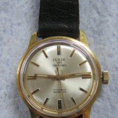 Relojes de pulsera: BONITO RELOJ DE PULSERA MECANICO DE 17 RUBIS DE LA MARCA SUIZA GUILDE DES ORFEVRES AÑOS 50, FUNCIONA. Lote 180847582
