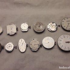 Relojes de pulsera: MAGNIFICO GRAN LOTE DE 12 ANTIGUAS MAQUINAS DE RELOJ MARCAS VARIADAS . Lote 180852620
