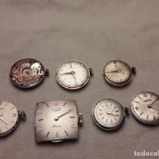 Relojes de pulsera: MAGNIFICO LOTE DE 7 ANTIGUAS MAQUINAS DE RELOJ 4 DUWARD Y 3 FESTINA . Lote 180853877