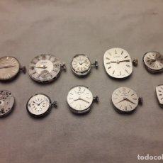 Relojes de pulsera: MAGNIFICO LOTE DE 10 ANTIGUAS MAQUINAS DE RELOJ VARIAS MARCAS. Lote 180855303