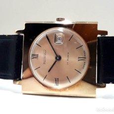 Relojes de pulsera: ELEGANTE RELOJ VINTAGE THERMIDOR AÑOS 70 CHAPADO EN ORO Y DE CARGA MANUAL. Lote 181323772