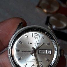 Relojes de pulsera: RELOJ DE PULSERA CABALLERO CARGA MANUAL LUCERNE CALENDAR, MUY BUEN ESTADO. Lote 181353450