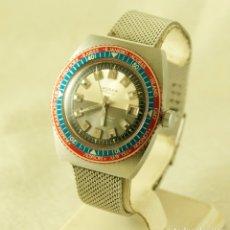 Relojes de pulsera: LASSER ESPECIAL MECANICO CASI NOS GMT Y DIVER CON BISEL GIRATORIO FUNCIONANDO. Lote 181395828