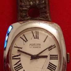 Relojes de pulsera: ANTIGUO RELOJ DE CABALLERO MORTINA 17 JEWELS FUNCIONANDO. Lote 181421632