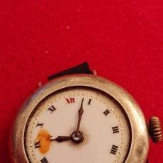 Relojes de pulsera: ANTIGUO RELOJ CAJA DE PLATA FUNCIONANDO. Lote 181422892