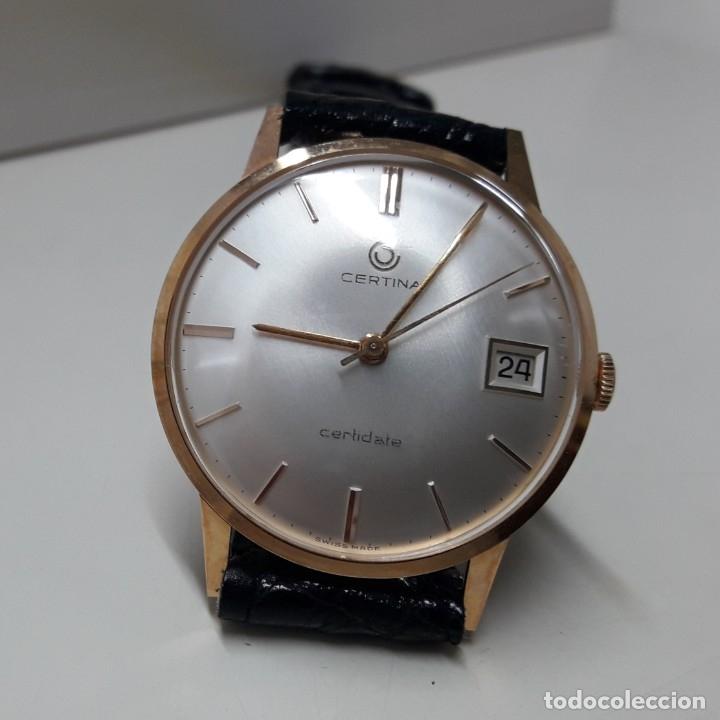 Relojes de pulsera: RELOJ CERTINA MODELO CERTIDATE EN ORO DE LEY AÑOS 60 CARGA MANUAL Y TOTALMENTE NUEVO - Foto 9 - 178183147