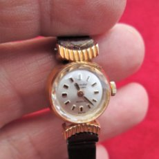 Relojes de pulsera: RELOJ DE PULSERA SUIZO CIGANDET - CARGA MANUAL,CUERDA- PULSERA PIEL MARRON ORIGINAL CON SU CAJA FOND. Lote 181551628