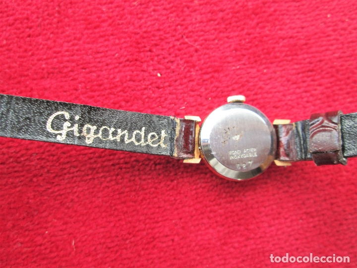 Relojes de pulsera: RELOJ DE PULSERA SUIZO CIGANDET - CARGA MANUAL,CUERDA- PULSERA PIEL MARRON ORIGINAL CON SU CAJA FOND - Foto 2 - 181551628