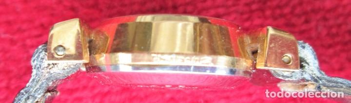Relojes de pulsera: RELOJ DE PULSERA SUIZO CIGANDET - CARGA MANUAL,CUERDA- PULSERA PIEL MARRON ORIGINAL CON SU CAJA FOND - Foto 3 - 181551628