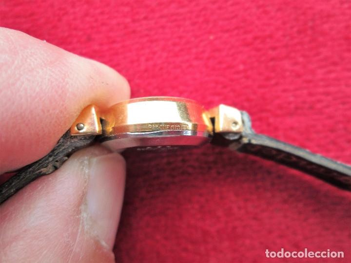 Relojes de pulsera: RELOJ DE PULSERA SUIZO CIGANDET - CARGA MANUAL,CUERDA- PULSERA PIEL MARRON ORIGINAL CON SU CAJA FOND - Foto 4 - 181551628