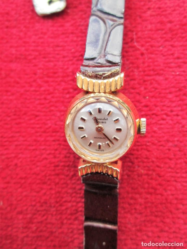 Relojes de pulsera: RELOJ DE PULSERA SUIZO CIGANDET - CARGA MANUAL,CUERDA- PULSERA PIEL MARRON ORIGINAL CON SU CAJA FOND - Foto 8 - 181551628