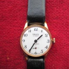Relojes de pulsera: RELOJ DE PULSERA SUIZO BRINA - CARGA MANUAL,CUERDA- PULSERA PIEL ORIGINAL CON SU CAJA FONDO ACERO IN. Lote 181551840