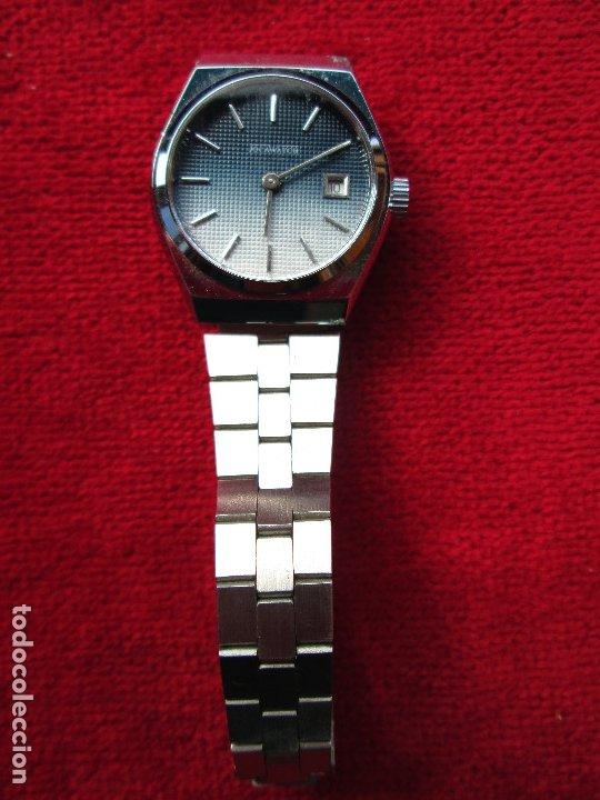 Relojes de pulsera: RELOJ DE PULSERA JOCAWATCH CARGA MANUAL,CUERDA - CALENDARIO- FUNCIONANDO - DE ACERO INOXIDABLE - SIN - Foto 2 - 181561041