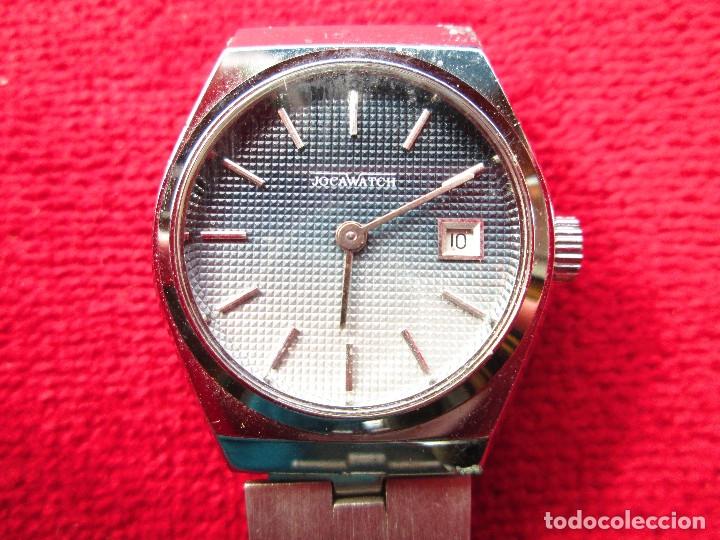 Relojes de pulsera: RELOJ DE PULSERA JOCAWATCH CARGA MANUAL,CUERDA - CALENDARIO- FUNCIONANDO - DE ACERO INOXIDABLE - SIN - Foto 4 - 181561041