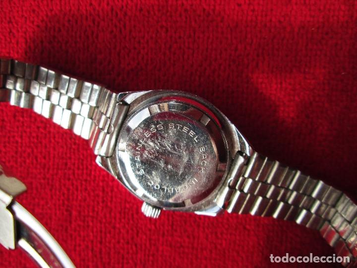 Relojes de pulsera: RELOJ DE PULSERA JOCAWATCH CARGA MANUAL,CUERDA - CALENDARIO- FUNCIONANDO - DE ACERO INOXIDABLE - SIN - Foto 5 - 181561041