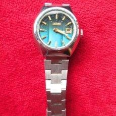 Relojes de pulsera: RELOJ DE PULSERA DUWARD CARGA MANUAL,CUERDA - CALENDARIO- FUNCIONANDO - DE ACERO INOXIDABLE - SIN ES. Lote 181561212