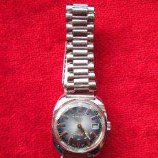 Relojes de pulsera: RELOJ DE PULSERA SUPER WATCH CARGA MANUAL,CUERDA - CALENDARIO- FUNCIONANDO. Lote 181561471