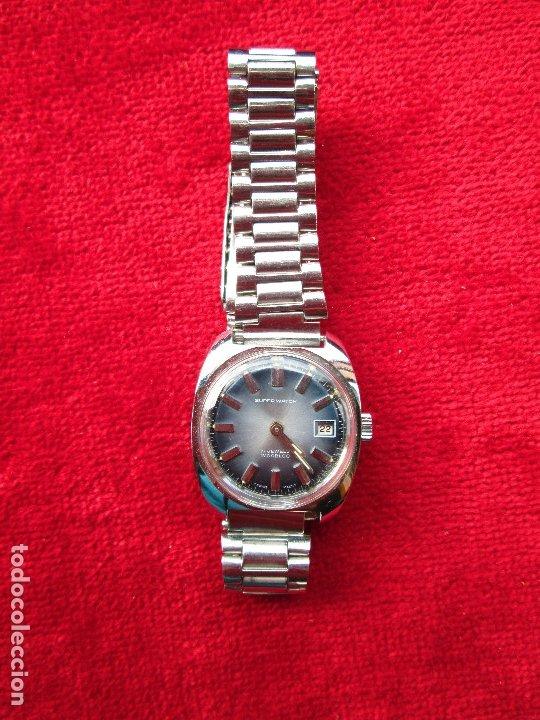 Relojes de pulsera: RELOJ DE PULSERA SUPER WATCH CARGA MANUAL,CUERDA - CALENDARIO- FUNCIONANDO - Foto 2 - 181561471